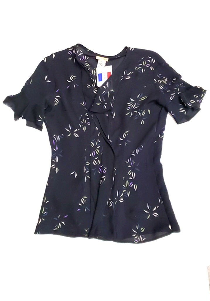 Silk Cascade Blouse