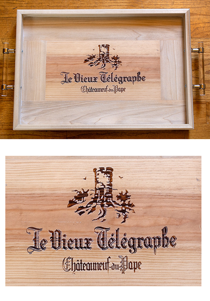 French Wine Crate Serving Tray - Chateauneuf-du-Pape