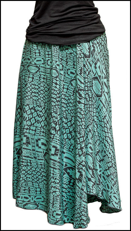 Silk Circle Skirt - Kelly Batik