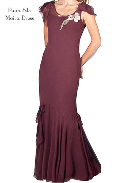 Plum Silk Moira Dress