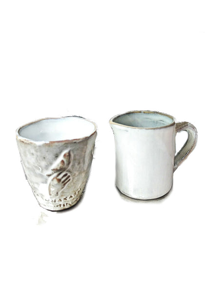 Ceramic Creamer and sugar bowl