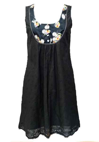 Black eyelet Dakota Dress