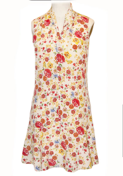 Silk Flapper dress-Sunny Floral