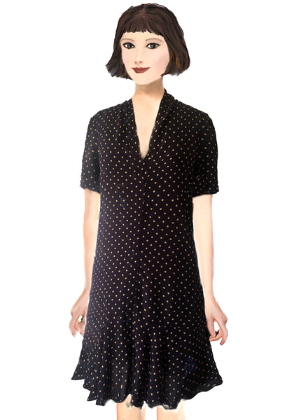 Florence Flapper Dress- Polka Dot