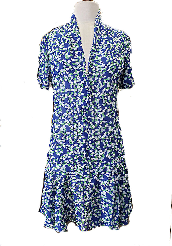 Florence Flapper Dress- Blue Confetti