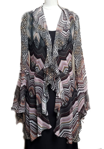 Flutter Jacket-Silk Smokey Missoni
