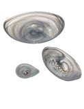 Marbleized glass serving bowls-set of 3