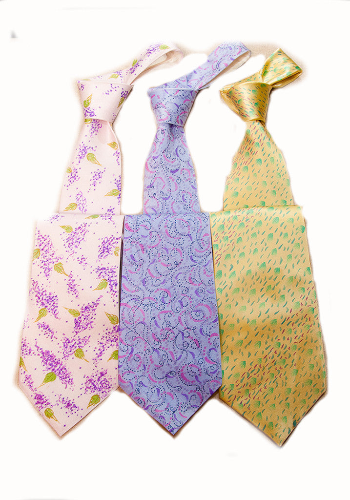 Nathalie Seaver Hand Painted Ties