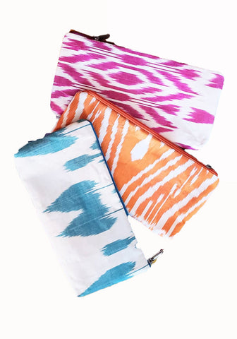 Ikat Clutch-Silk Cotton