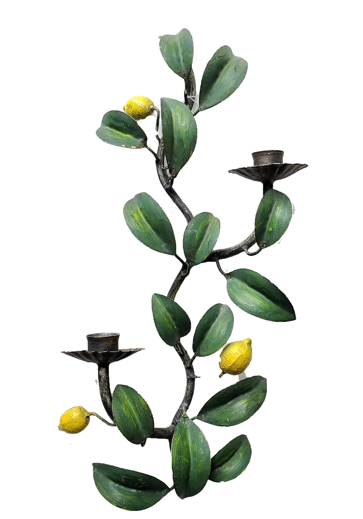 Italian Lemon Branch Candle Sconce