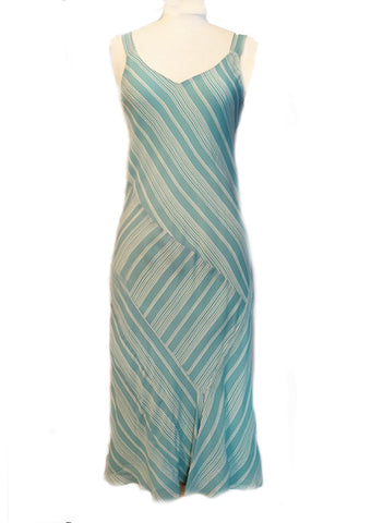 Martini Dress- Soft Aqua Stripe