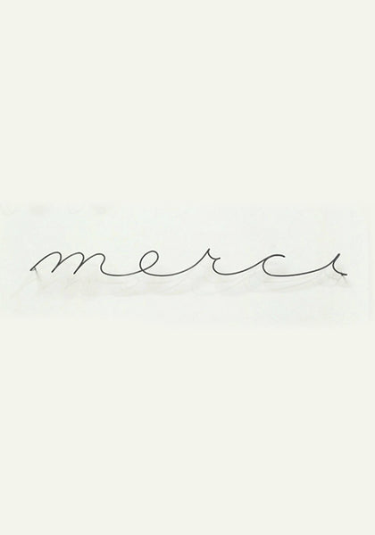 French Wire Signage - Merci