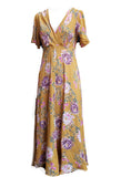 Stanwyck dress- Ochre Floral