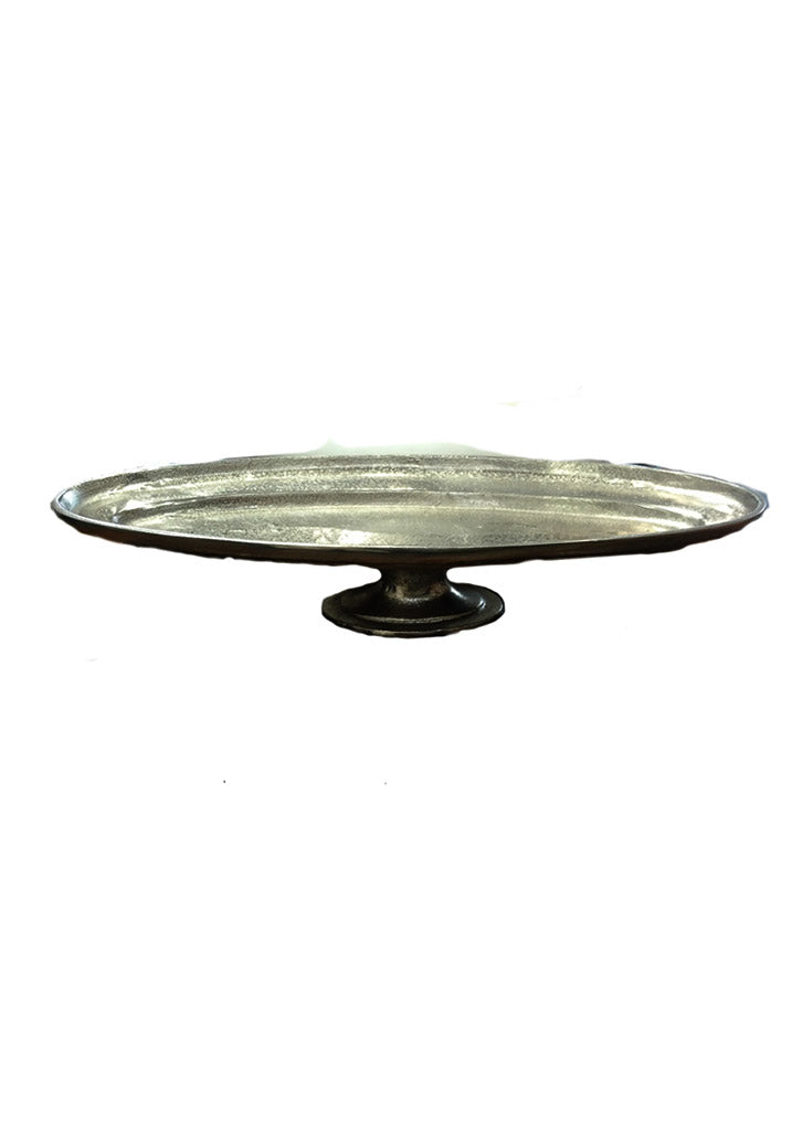 Oval footed Pedestal Tray