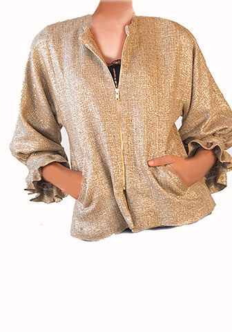 Glam Jacket -Metallic Gold Silk
