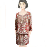 Paisley Princess Blouson Dress