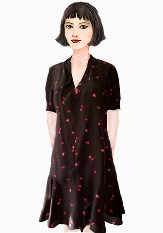 Florence Flapper dress- Rose Petals