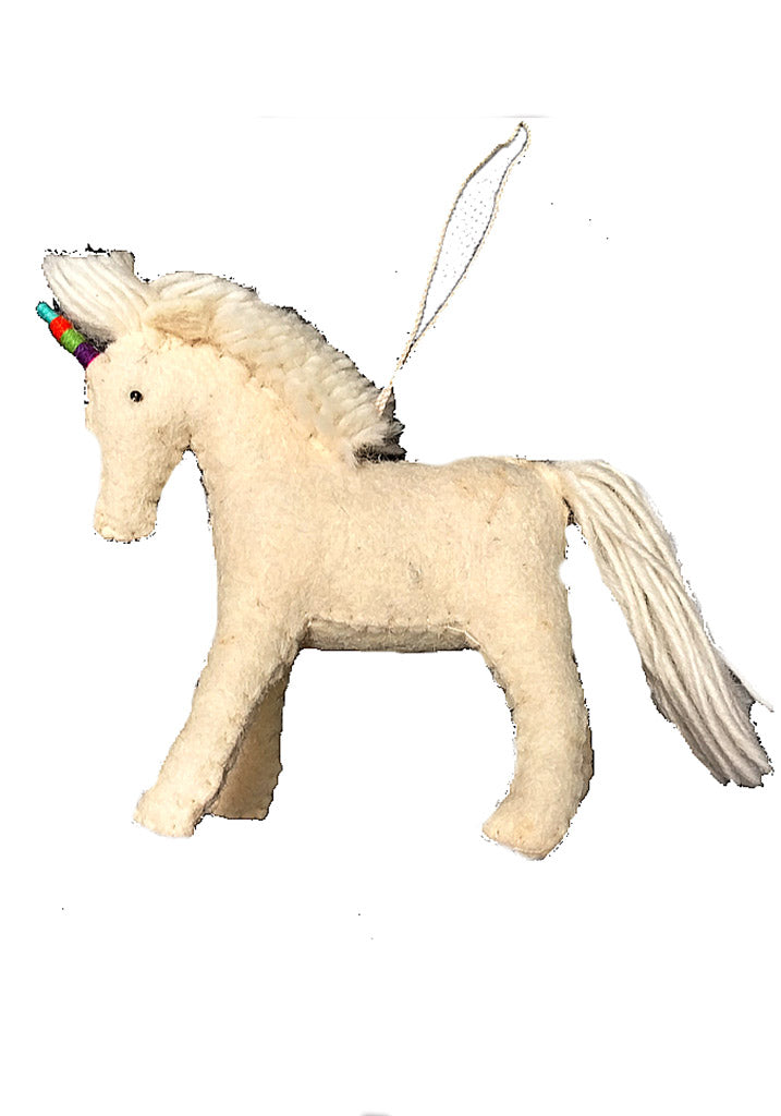 Handmade Rainbow Unicorn Ornament
