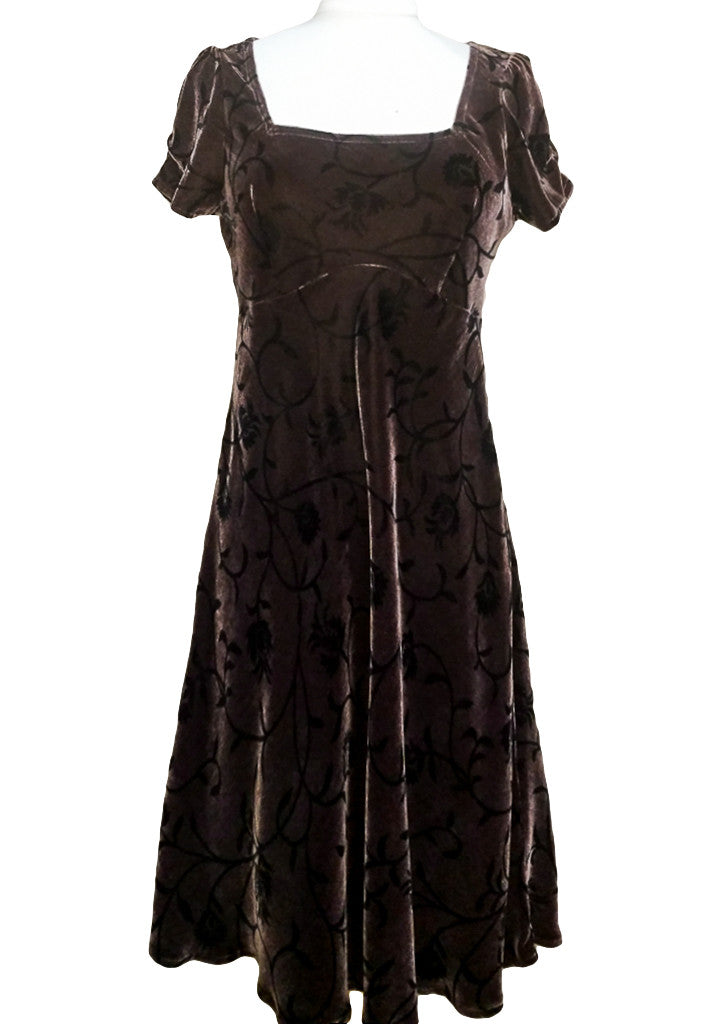Velvet Swing Dress - Chocolate Vines