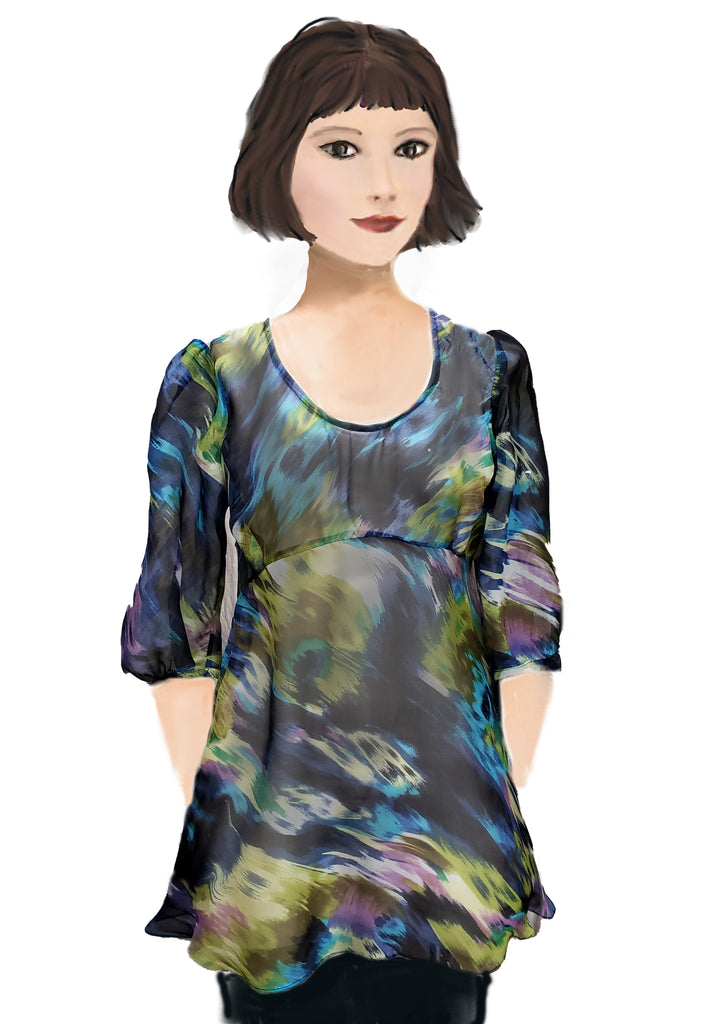 Victoire Blouse - Silk Watercolor