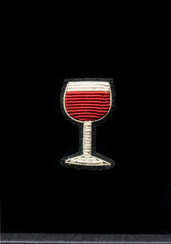 Lapel Pin- Red wine Glas