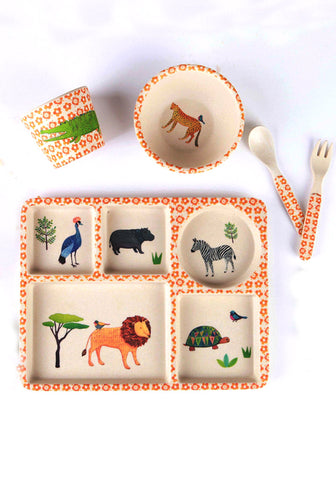 5 Piece Bio-degradeable dinner set