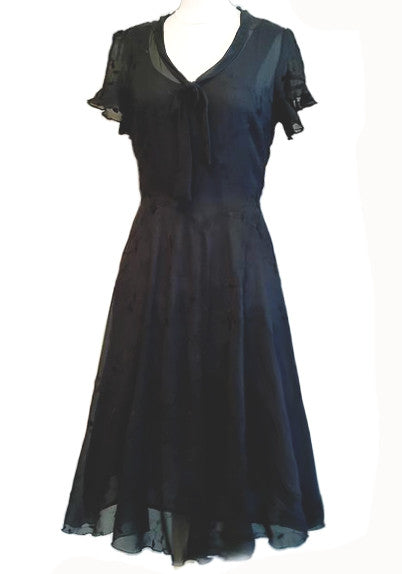 Deb Dress - Black Embroidery