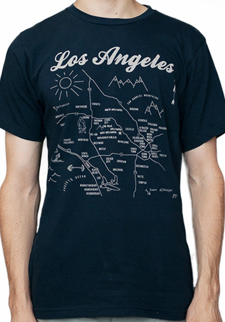 Los Angeles Map Tee - Adult