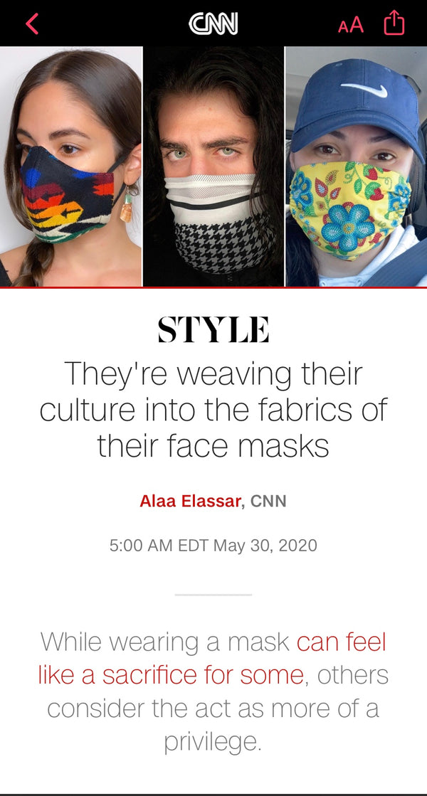 CNN features our mask making/donating and our new tutorial!