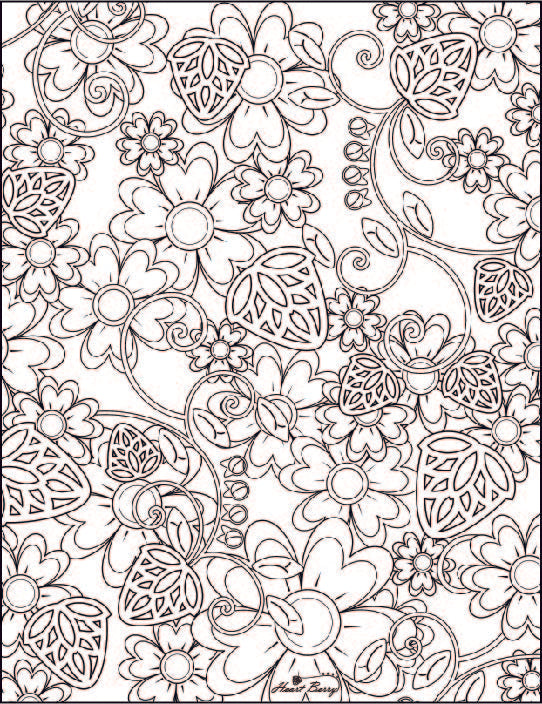 New Floral Coloring Page-By Popular Demand