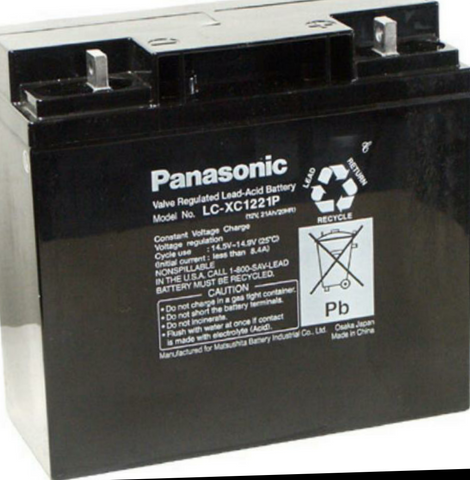 Panasonic Deep cycle golf trolley battery - Scootersg