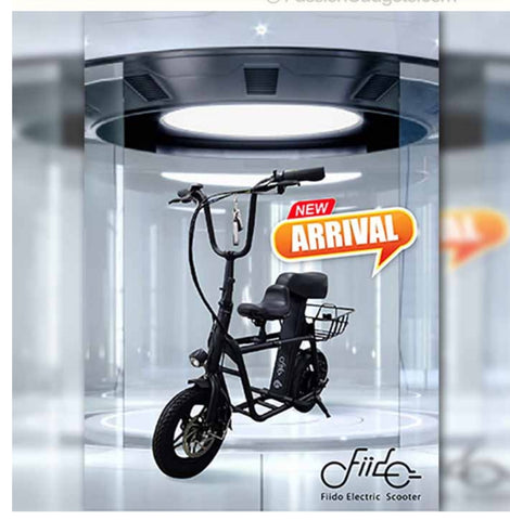 Fiido Seated Electric Scooter UL2272 w latest LTA approved registration Order now for local delivery