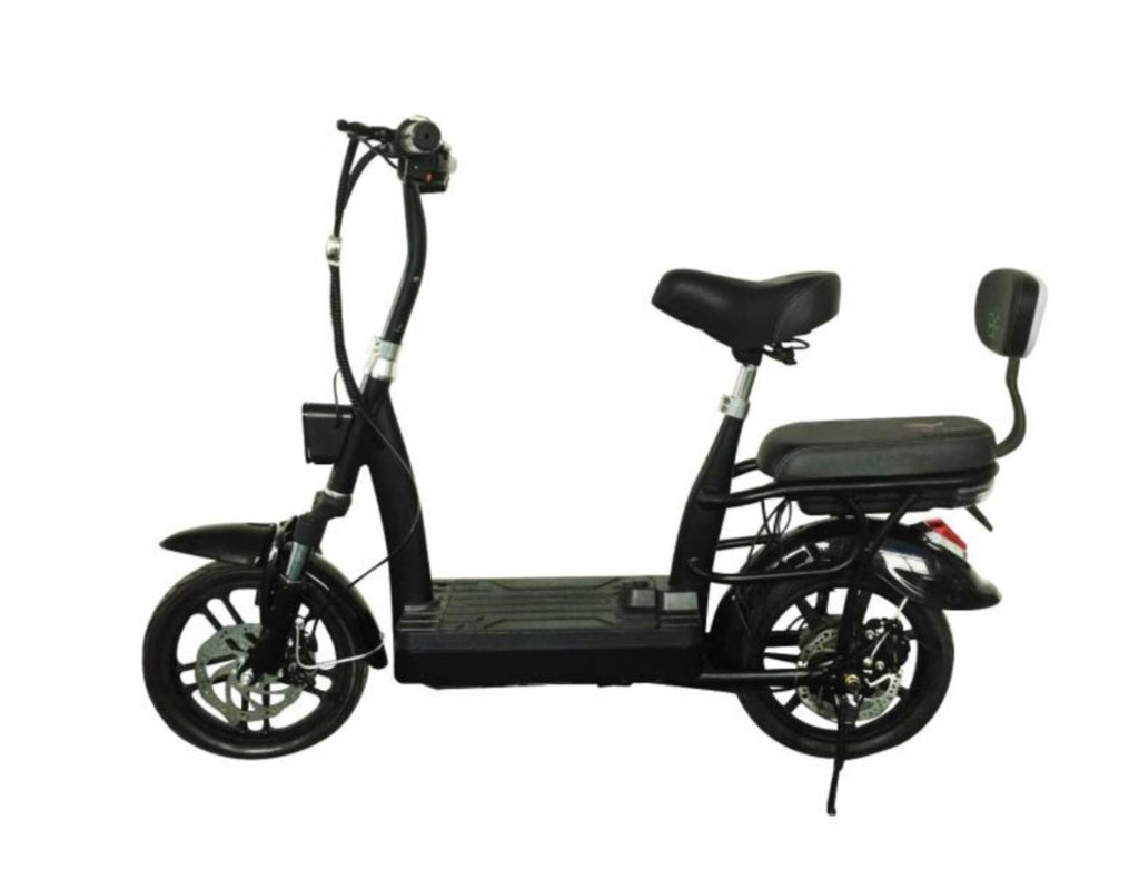 UL2272 Certified Seated escooter w quick battery swaps for unlimited mileage.