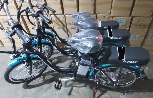 Express ECO Drive food riders' ebike w LTA approved orange seal