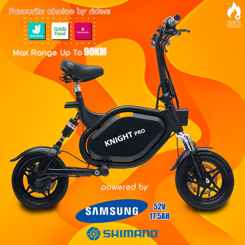 KNIGHT PRO Seated Electric Scooter w 90km range & UL2272 Certified
