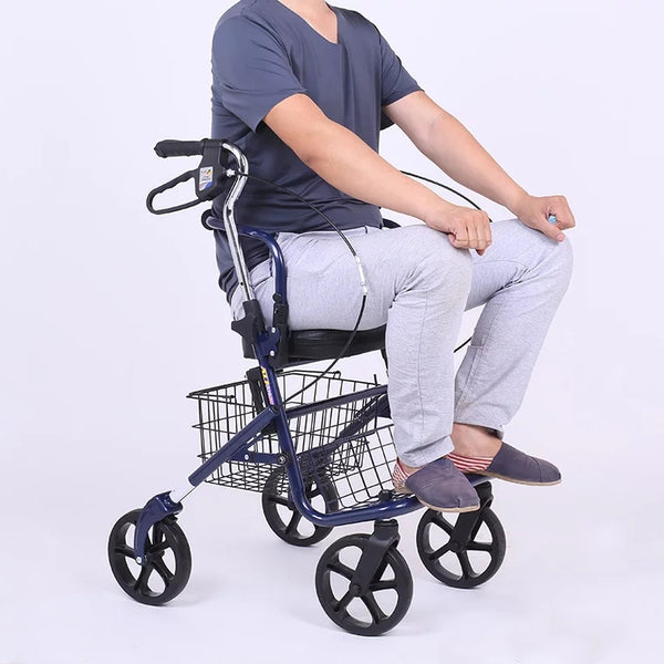 EasiWheels Rollator – 3-in-1 Mobility Walker Assist
