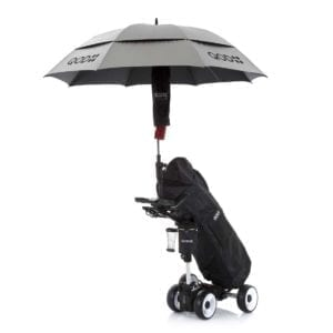 QOD electric golf trolley telescopic umbrella holder
