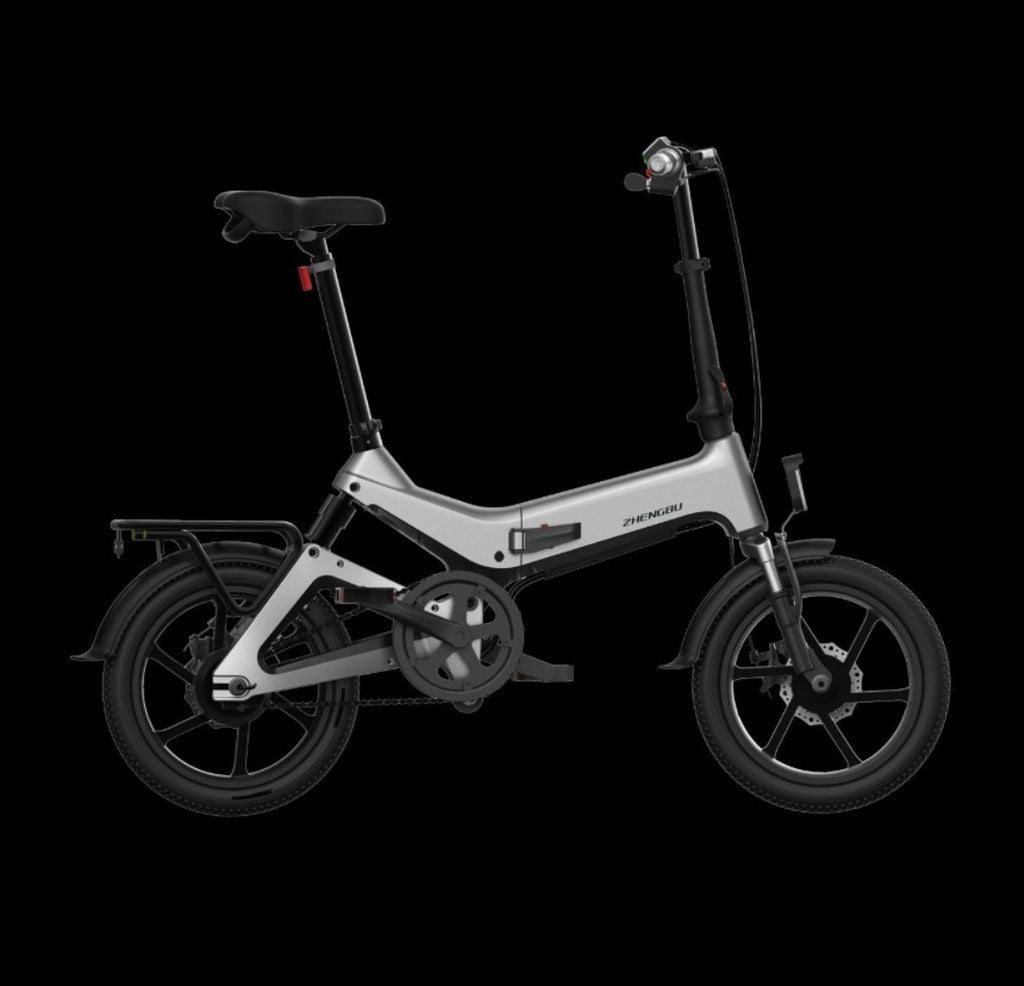 Minimotors SCORPION Food riders' foldable ebikes w rear suspension. Pending LTA approval
