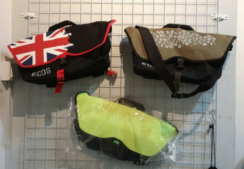 Bicycle front bags for Brompton carrier blocks
