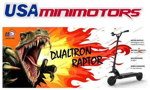 Dualtron Raptor electric scooter aka escooter in USA. its minimotors PREMIUM electric scooter AKA escooter. This is in LA California USA - Scootersg.com