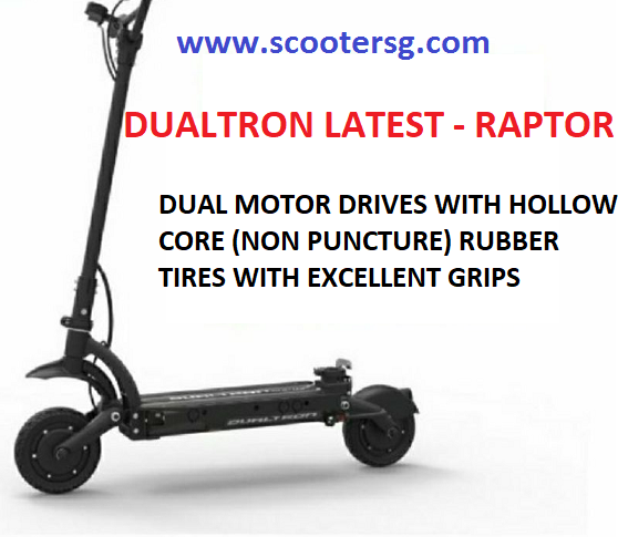 Dualtron Raptor electric scooter aka escooter in Singapore. its minimotors PREMIUM electric scooter AKA escooter. Scootersg.com