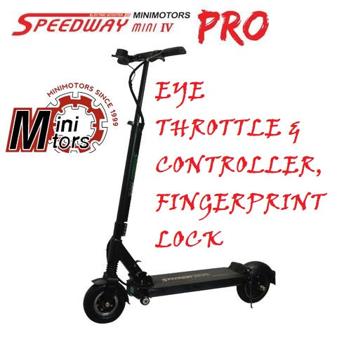 Speedway 4 Mini PRO EYE with EYE throttle, dolly wheels & shipping by Fedex to Europe