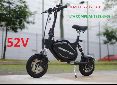 Minimotors TEMPO 52V Seated Electric Scooter (for USA only) - Scootersg
