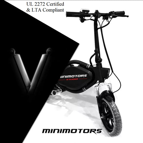Minimotors TEMPO V3 UL2272 Certified Seated escooter