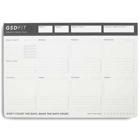 Migoals Best Seller - GSD FIT A4 Weekly Desk Pad