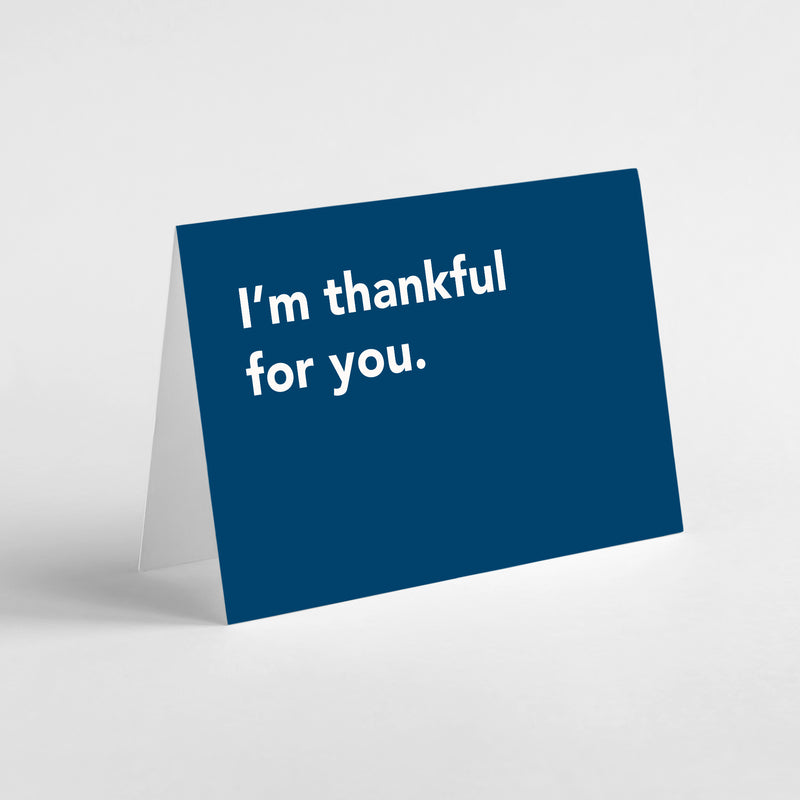 Migoals - Thankful for you - Greeting Card