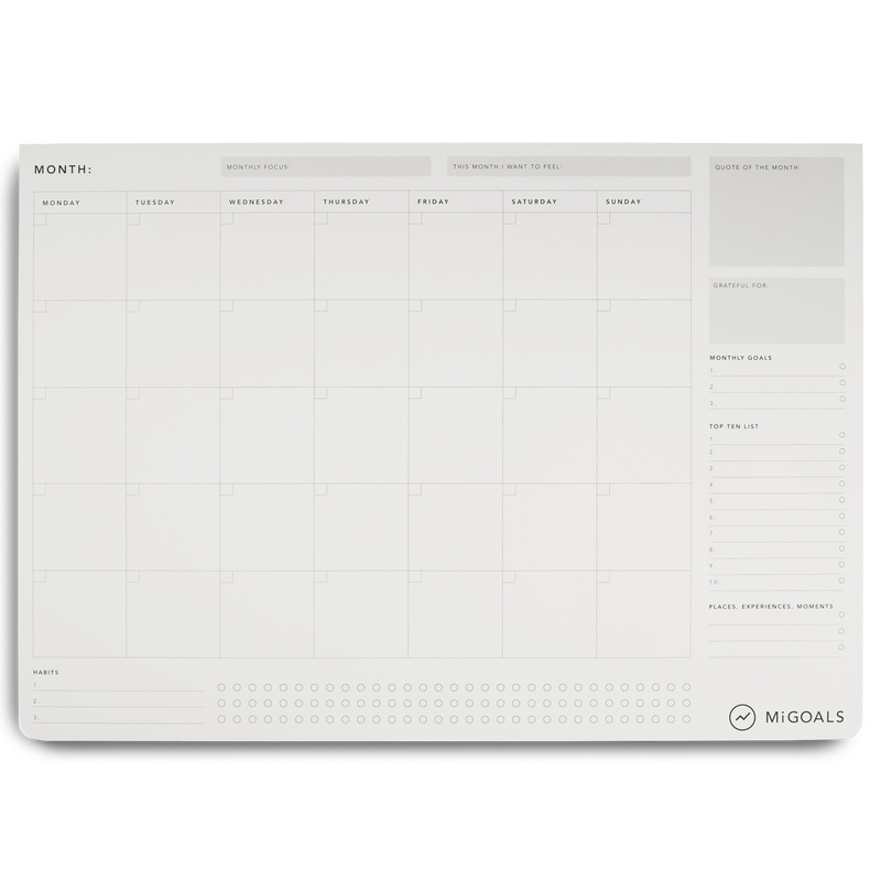 Migoals - Monthly Desk Pad