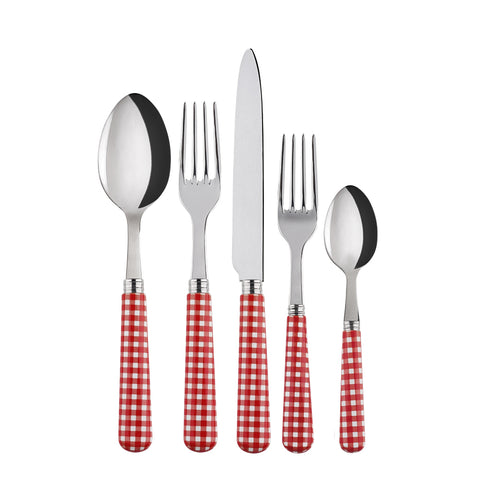 Red Gingham Cutlery Set by PROSE Tabletop
