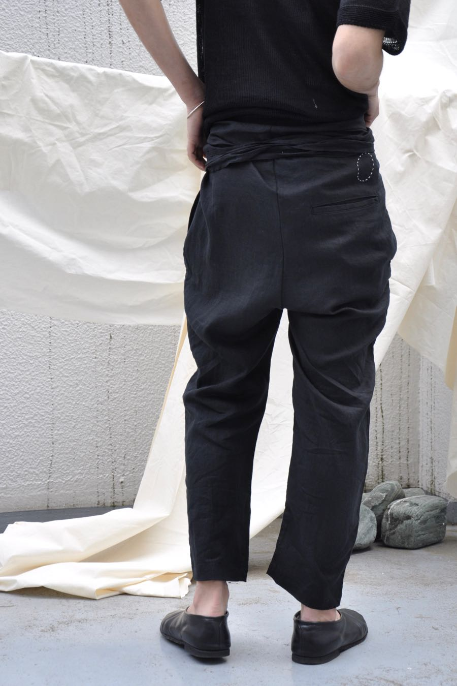 Organic Cotton Wrap Pants (Black) by Cosmic Wonder