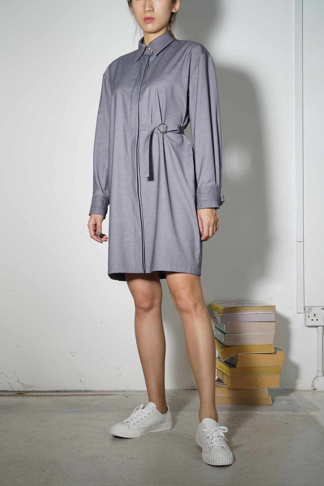 Plus-Minus Shirtdress #74 - Grey